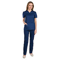 Медицинский женский костюм Топаз синий