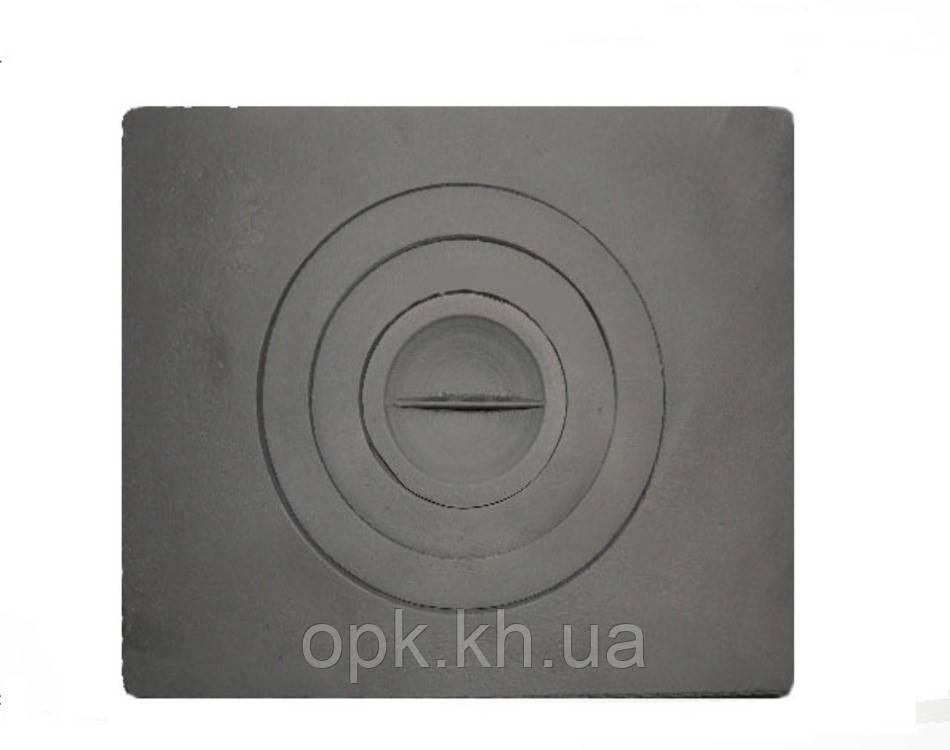 """Плита чугунная """"Водолей - ЯП"""" одноконфорочная 360*410 мм (вес - 10 кг)"""