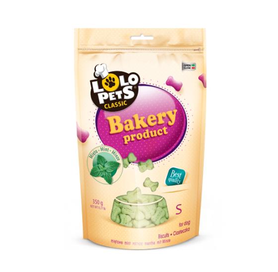 Печенье для собак, мятные косточки размер S, пакет 350 гр. Lolopets
