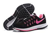 Кроссовки Nike Zoom Pegasus 33 Black Pink Черные женские