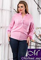 Женская летняя блуза больших размеров (р. 48, 50, 52) арт. 13611