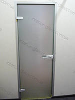 Стеклянные двери в алюминиевой коробке, матовое стекло