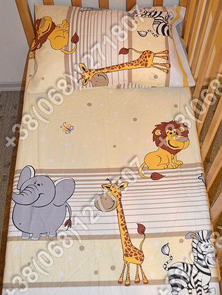 Детское постельное белье в кроватку, постельный комплект (Мадагаскар бежевый), фото 2