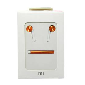 Гарнитура наушники XIAOMI MI 7 QTER01JY с микрофоном, кнопкой ответа и рег. громкости, ОРИГИНАЛ, Оранжевая