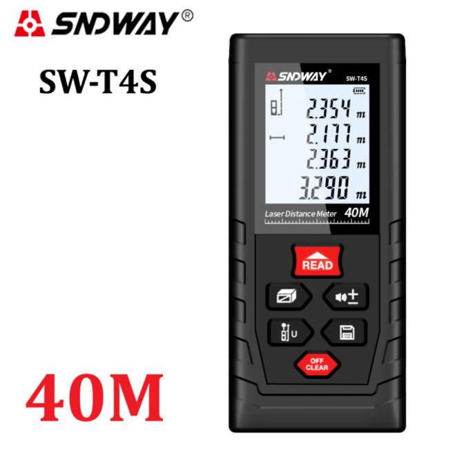 Лазерный дальномер SNDWAY SW-T4S оригинал в коробке, лазерная рулетка,