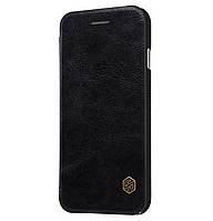 Кожаный чехол-книжка Nillkin Qin Series на iPhone 7/8 Black