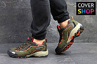 Кроссовки мужские The North Face, материал - замша+сетка, носок прорезинен, темно-зеленые