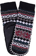 Носки тапочки детские LOOKeN Ромб Серый