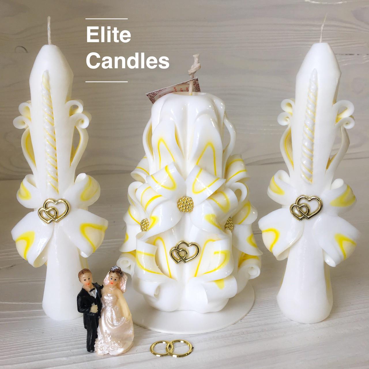 Нежный бело-желтый свадебный набор