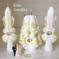 Ніжний біло-жовтий весільний набір