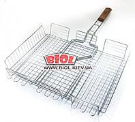 Решетка для гриля, барбекю (размер отдела для готовки 42х33х6,5см) Stenson MH-0085