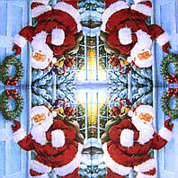 Декупажные салфетки Санта у двери 105