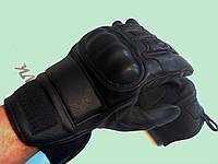 Тактические перчатки с костяшками черные утепленные, фото 1