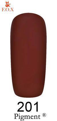Гель-лак F.O.X 201 Pigment темный шоколад, 6 мл, фото 2