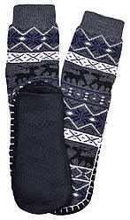 Носки тапочки детские LOOKeN Олени Серый