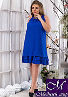 Женское легкое летнее платье большой размер (р. 50, 52, 54, 56) арт. 13423