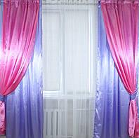 Комплект декоративных портьер, цвет сиреневый с розовым 005дк, фото 1