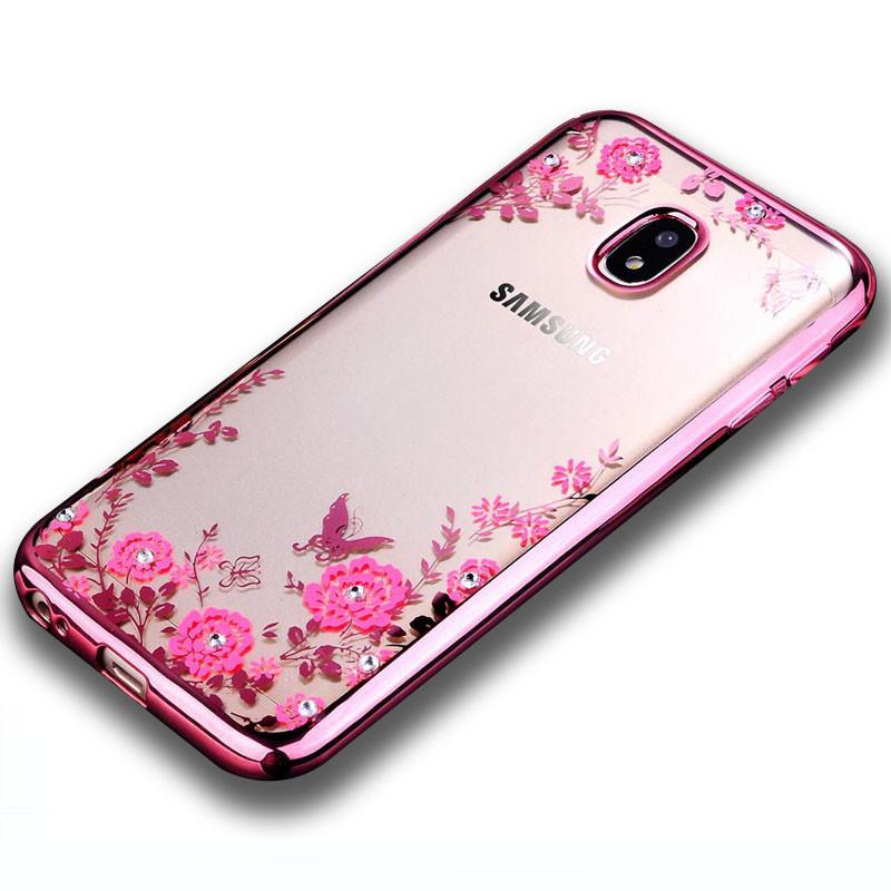Чехол для Galaxy J7 2017 / Samsung J730 Flowers