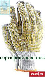 Перчатки рабочие защитные с ПВХ точкой RDZNN WY