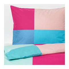 Комплект постельного белья IKEA BRUNKRISSLA 200x200/50x60 см разноцветный 303.754.98