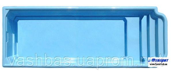 "Стационарный стекловолоконный бассейн ""Атлантида 10"" 10,3х2,90х1,50 м"