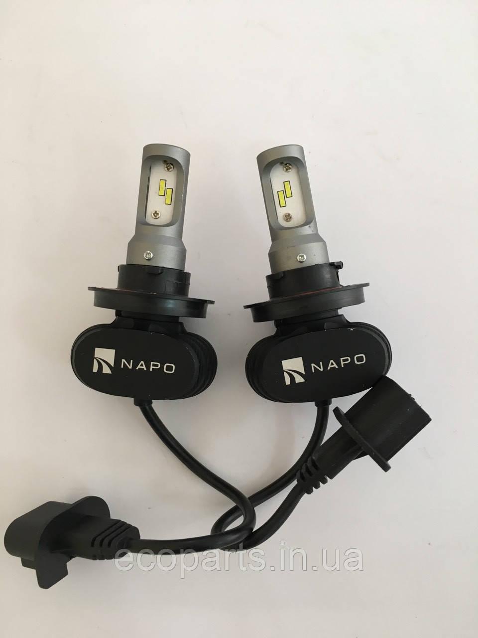 LED лампы в основные фары Nissan Leaf
