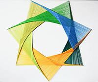 Картина String Art Мандала Цветочная звезда 50х50 см, 80х100 см