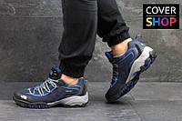 Кроссовки мужские The North Face, материал - замша+сетка, носок прорезинен, темно-синие