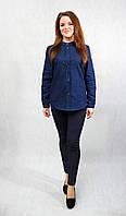 Рубашка Джинсовая воротник стойка