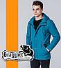 Braggart | Мужская демисезонная ветровка 1342 бирюзовая