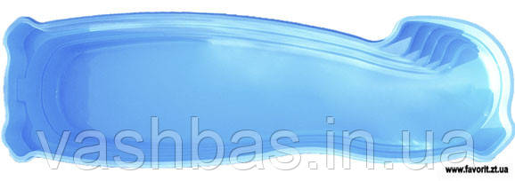 "Стационарный стекловолоконный бассейн ""Монако 13"" 13,0х3,70х1,25-1,90 м"