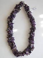 Ожерелье из аметиста (3 низки)