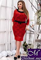 Женское нарядное платье больших размеров (р. 50, 52, 54, 56) арт. 13627