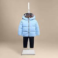 Голубая куртка для мальчика весна-осень