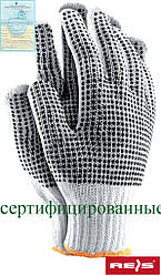 Защитные перчатки выполненные из трикотажа с двусторонним точечным покрытием RDZNN WB