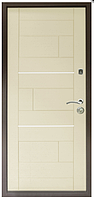 Дверь метал. ТМ Riccardi 2050х860 Куб лев. Дуб Беленый