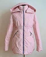 Куртка на девочку детская демисезонная пудра