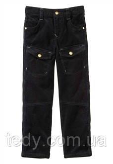 Вельветовые брюки для мальчика чёрного цвета ТМ VERTBAUDET