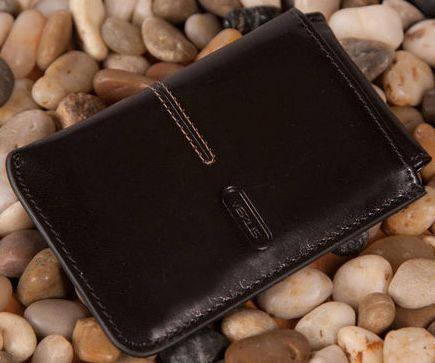 Кожаный чехол для визиток (визитница) Verus (Верус). Артикул 09A LN черный; 09BLN коричневый