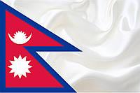 Флажок Непала 13,5*25 см., плотный атлас