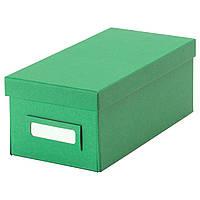 IKEA TJENA Коробка с крышкой, зеленая  (602.919.87)