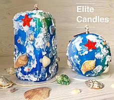 Морські свічки ELITE CANDLES - ручна робота, власний дизайн, оригінальні кольори