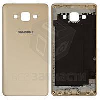 Задняя панель корпуса для мобильных телефонов Samsung A500F Galaxy A5, A500FU Galaxy A5, A500H Galaxy A5, золотистая