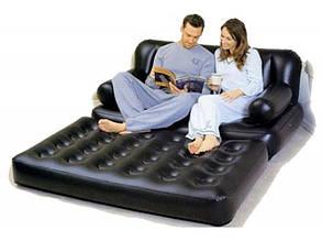 Надувной диван-трансформер Bestway 75054, 188х152х64см, без насоса