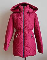Куртка для девочки детская малинового цвета