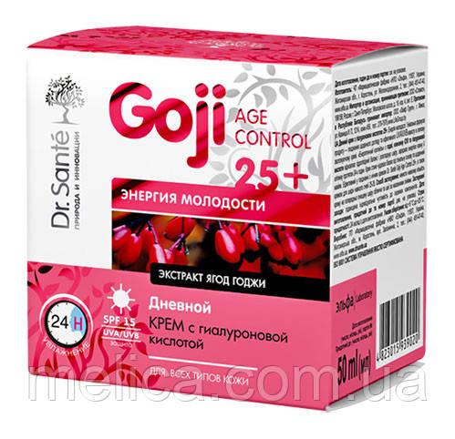 Дневной крем Dr.Sante Goji Age Control 25+ Энергия молодости с гиалуроновой кислотой - 50 мл.