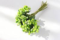 Декоративные веточки облепихи 10-12 шт/уп. салатового   цвета, фото 1