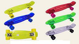 Скейт прозрачный с металлическими креплениями, длина - 55 см