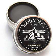 "Воск для усов MANLY WAX ""Magma"" (черный), 15 мл"