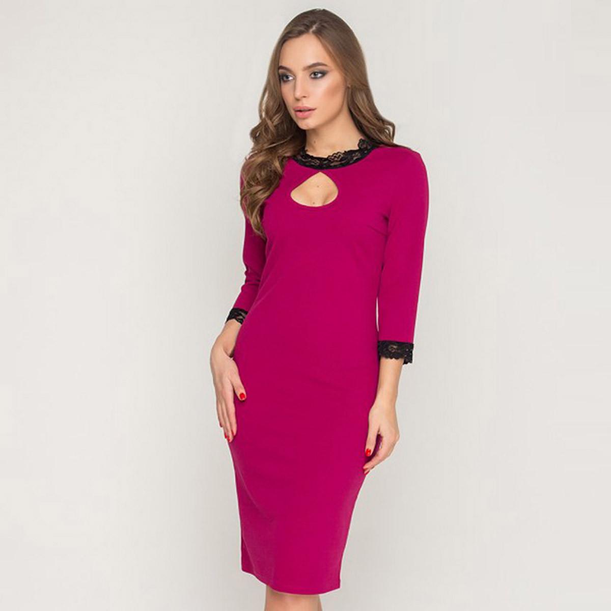 """Вечернее облегающее платье цвета фуксия размер M """"Олин"""""""